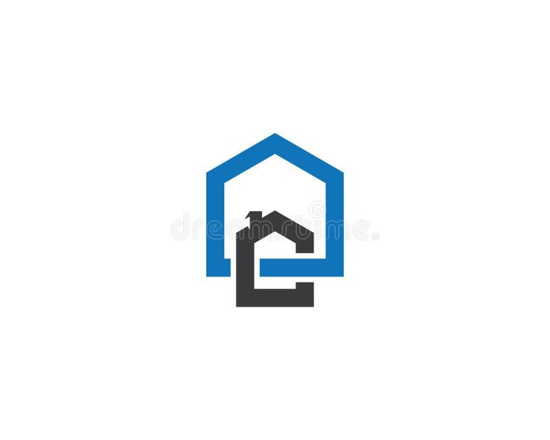 Ilustra??o do logotipo da casa ilustração stock