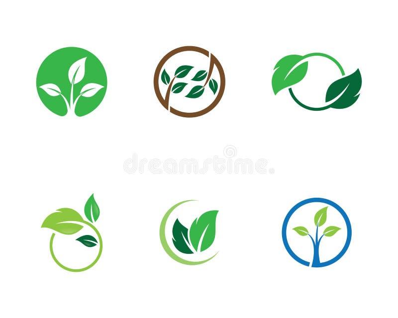 Ilustra??o do logotipo da ecologia ilustração royalty free