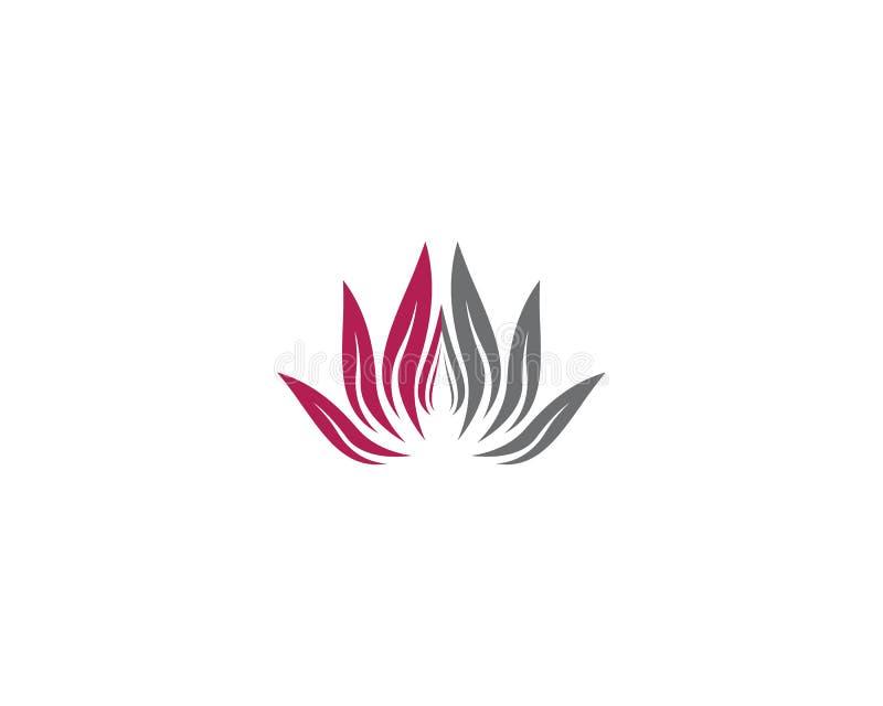 Ilustra??o do logotipo da flor da beleza ilustração royalty free