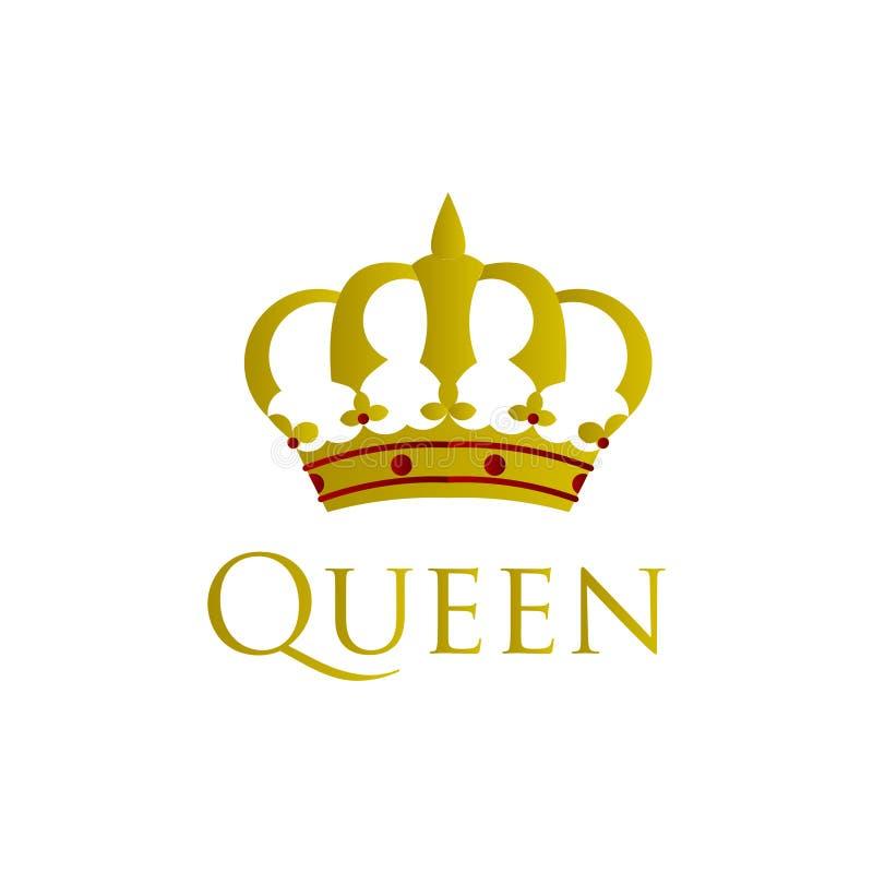 Ilustra??o do projeto do molde do vetor da rainha ilustração stock