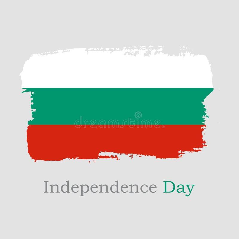 Ilustra??o do vetor Bandeira de Bulgária da tração da mão ilustração royalty free