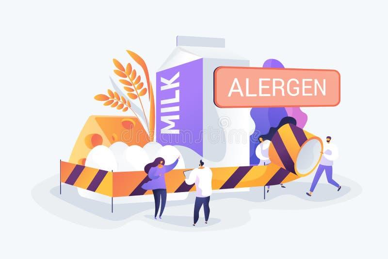Ilustra??o do vetor do conceito da alergia de alimento ilustração do vetor