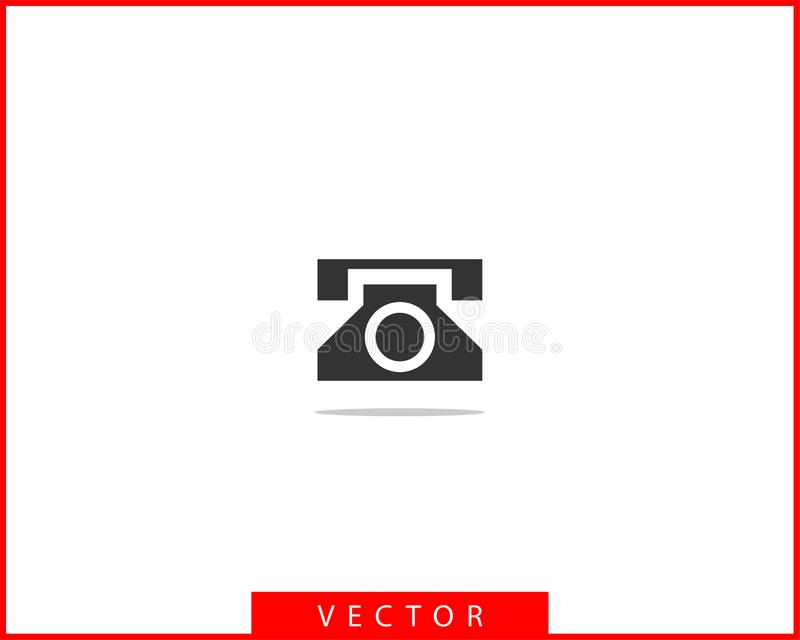 Ilustra??o do vetor do ?cone do telefone App do centro de atendimento Estilo liso na moda dos ícones do telefone Contacte-nos lin ilustração stock