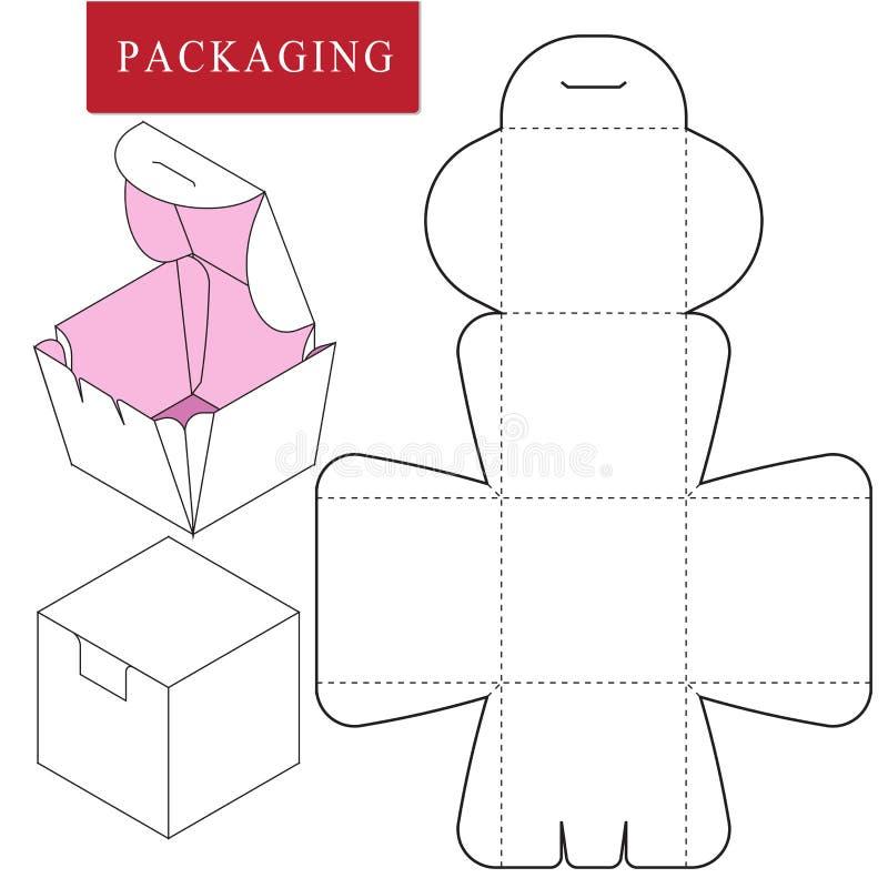 Ilustra??o do vetor da caixa molde do pacote ilustração royalty free