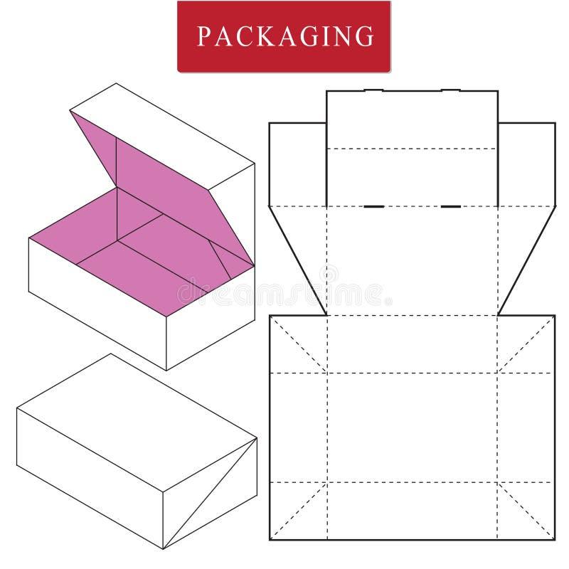 Ilustra??o do vetor da caixa molde do pacote ilustração stock