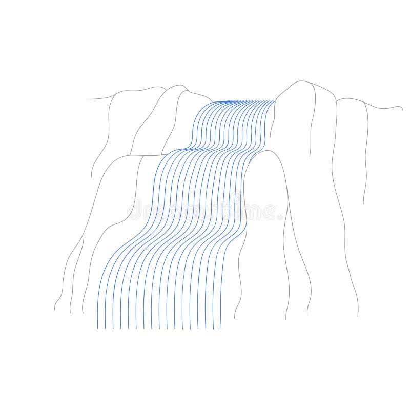 Ilustra??o do vetor da cascata da cachoeira ilustração do vetor