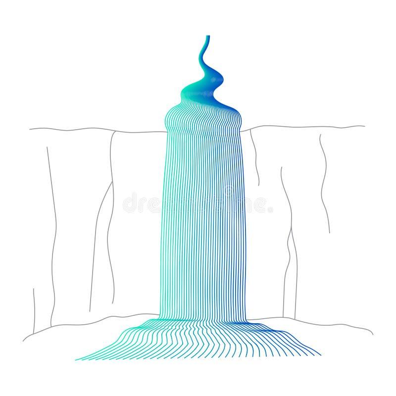 Ilustra??o do vetor da cascata da cachoeira ilustração stock