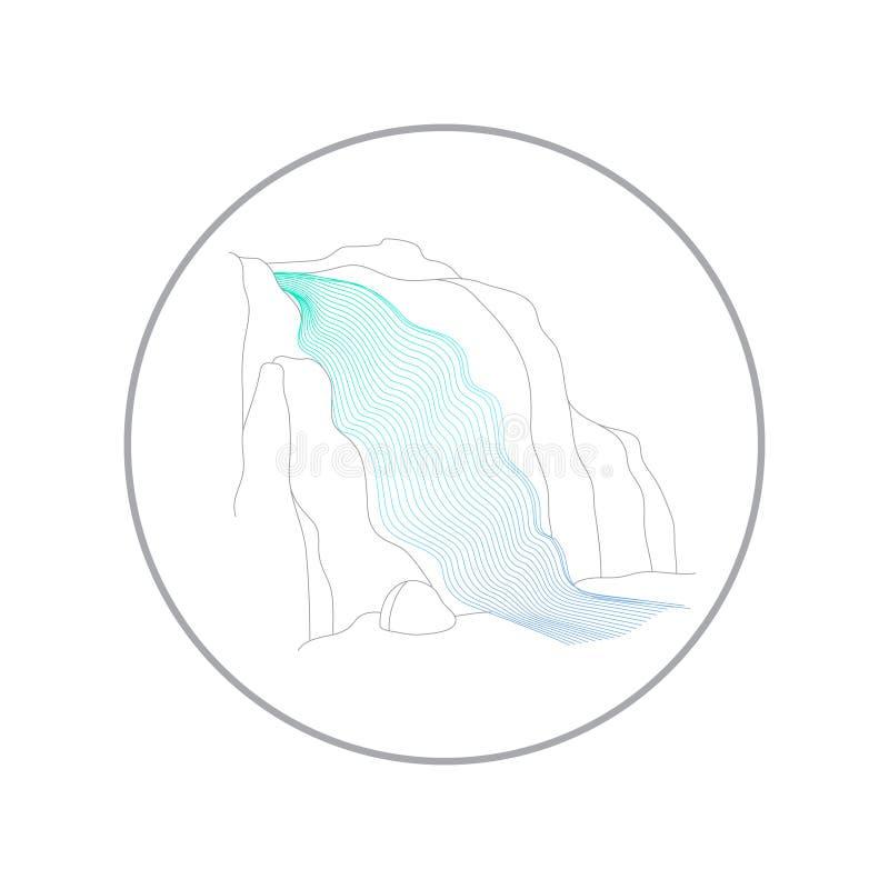 Ilustra??o do vetor da cascata da cachoeira ilustração royalty free