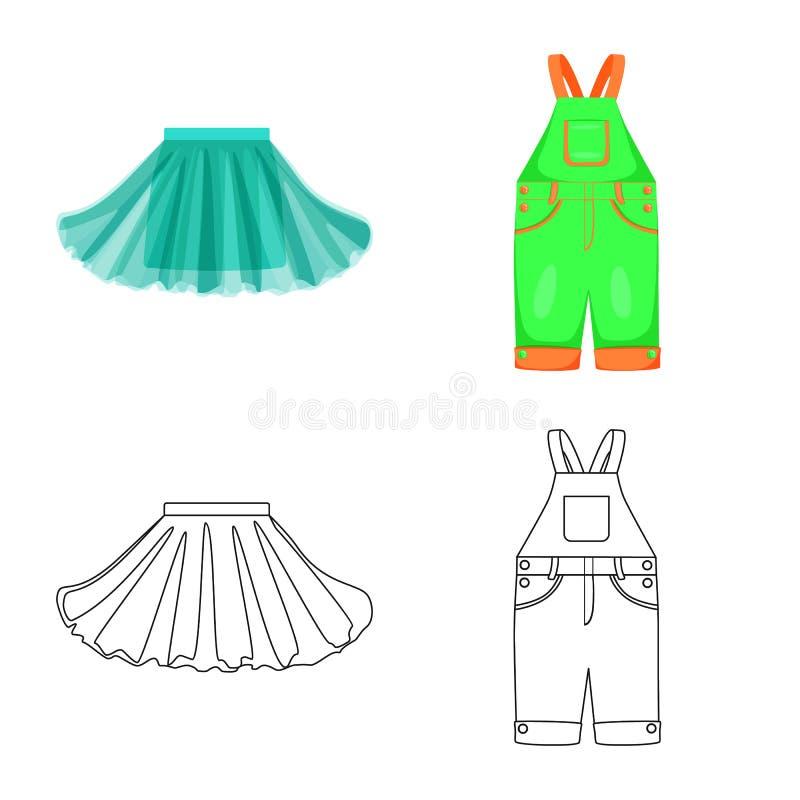 Ilustra??o do vetor da forma e do logotipo do vestu?rio Ajuste da forma e do ?cone do vetor do algod?o para o estoque ilustração do vetor