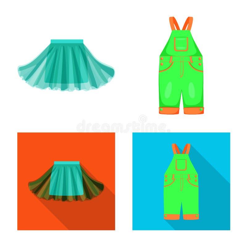 Ilustra??o do vetor da forma e do logotipo do vestu?rio Ajuste da forma e da ilustra??o conservada em estoque do vetor do algod?o ilustração stock