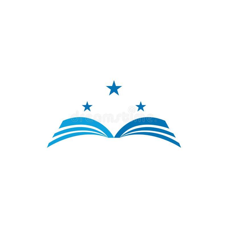 Ilustra??o do vetor de Logo Template do livro ilustração stock