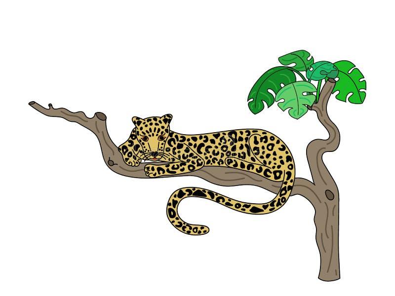 Ilustra??o do vetor do leopardo ilustração do vetor