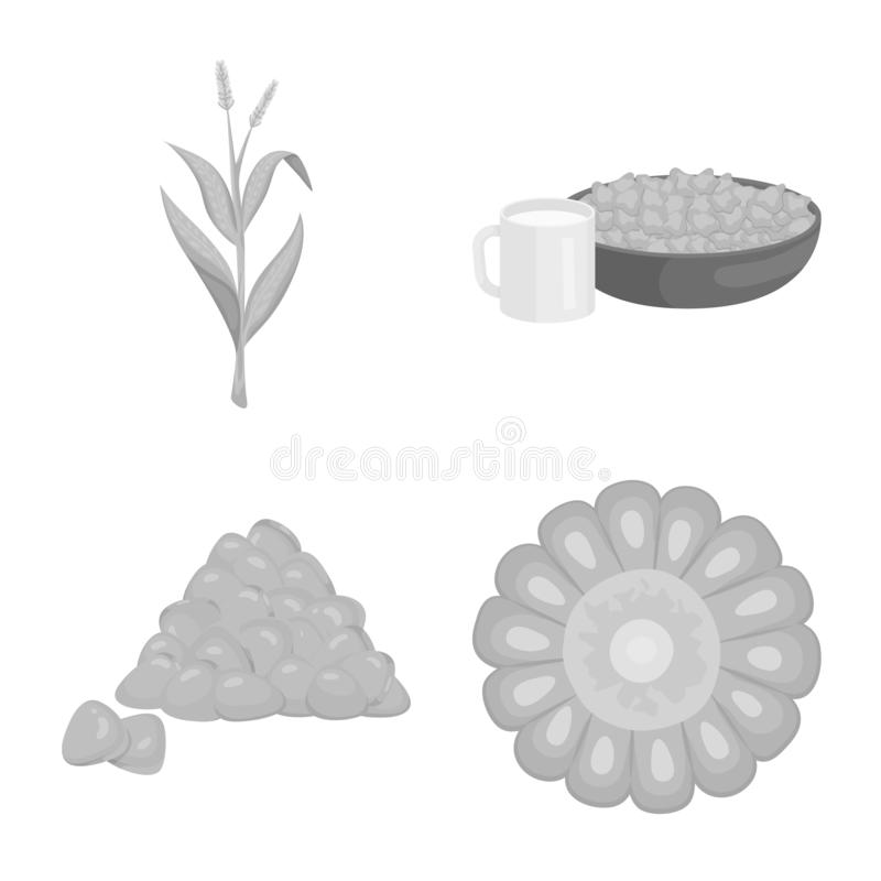 Ilustra??o do vetor do logotipo da agricultura e da nutri??o Cole??o da agricultura e do s?mbolo de a??es vegetal para a Web ilustração do vetor