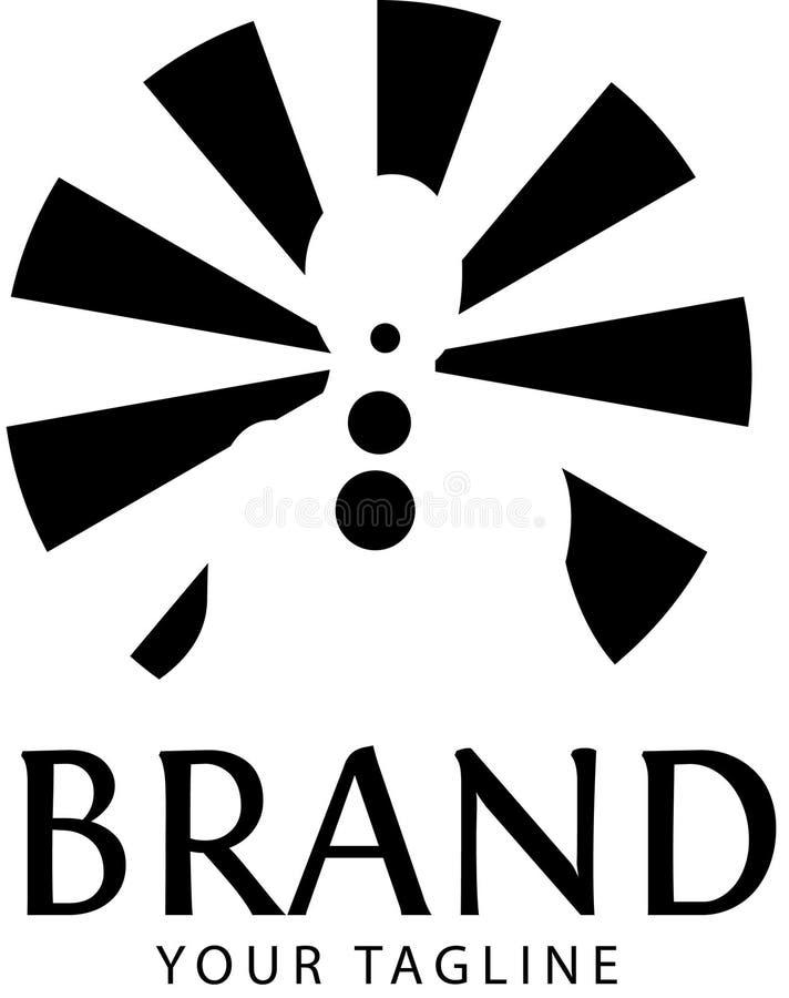 Ilustra??o do vetor do logotipo da medita??o da ioga isolada no fundo branco ilustração stock