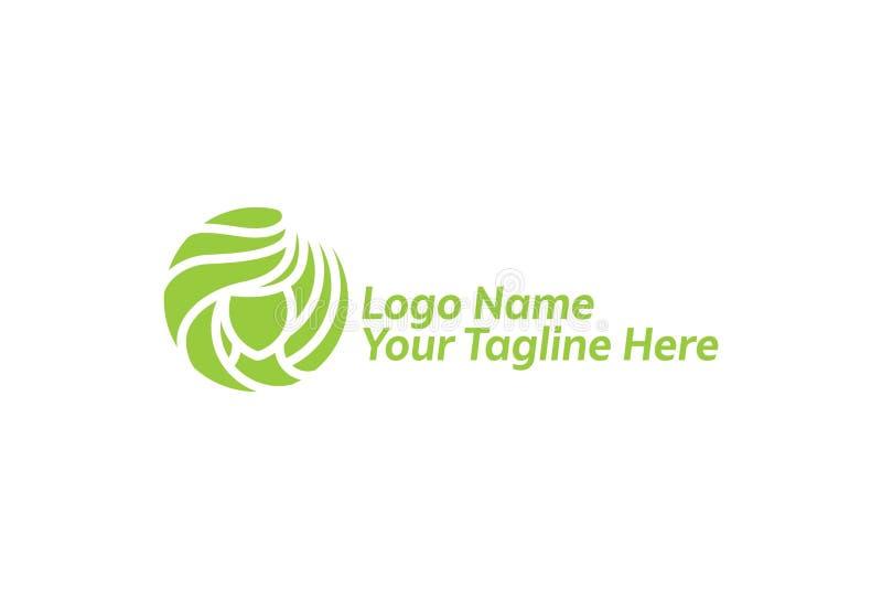 Ilustra??o do vetor do molde do projeto do logotipo ilustração royalty free