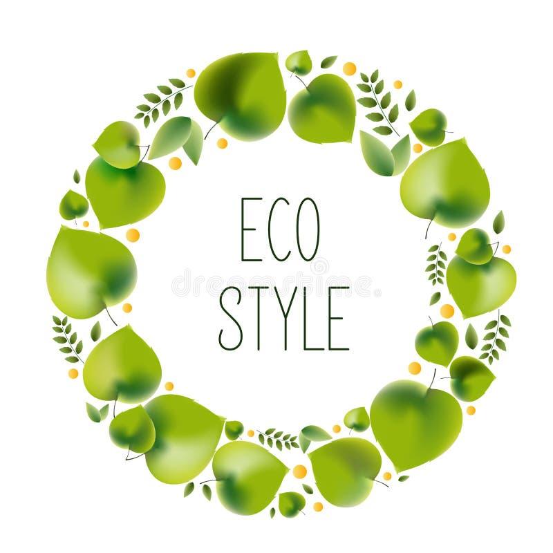 Ilustra??o do vetor para o tema ambiental - estilo do eco ilustração royalty free