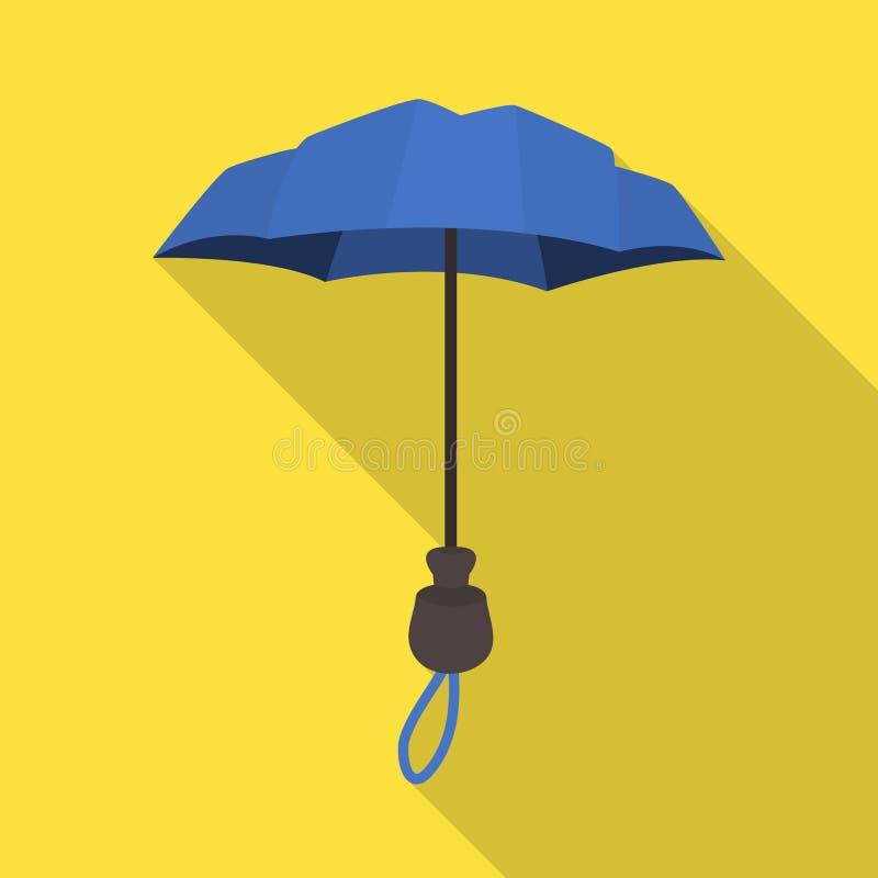 Ilustra??o do vetor do parasol e do logotipo da cobertura Ajuste do parasol e do ?cone cl?ssico do vetor para o estoque ilustração royalty free