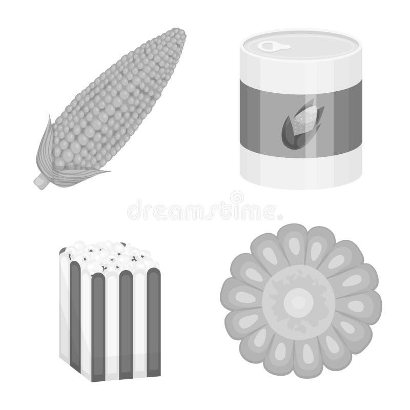 Ilustra??o do vetor do s?mbolo da agricultura e da nutri??o Cole??o da agricultura e ?cone vegetal do vetor para o estoque ilustração stock