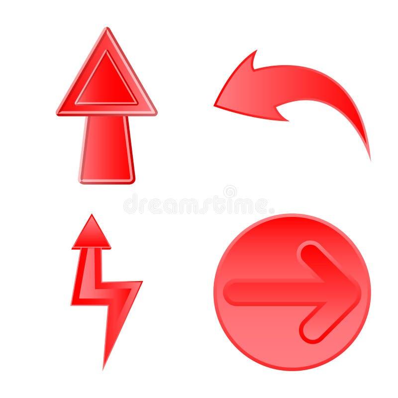 Ilustra??o do vetor do s?mbolo do elemento e da seta Grupo da ilustra??o conservada em estoque do vetor do elemento e do sentido ilustração do vetor