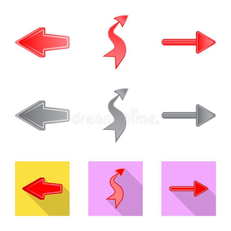 Ilustra??o do vetor do s?mbolo do elemento e da seta Grupo de s?mbolo de a??es do elemento e do sentido para a Web ilustração do vetor