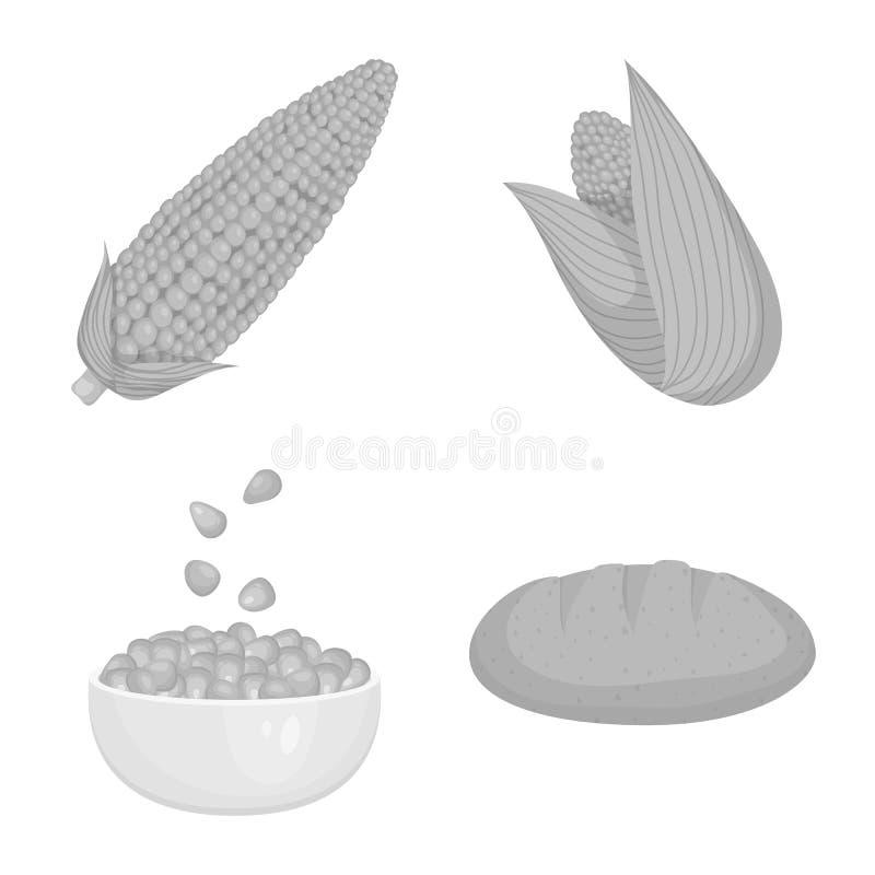 Ilustra??o do vetor do sinal da agricultura e da nutri??o Ajuste da agricultura e do ?cone vegetal do vetor para o estoque ilustração stock