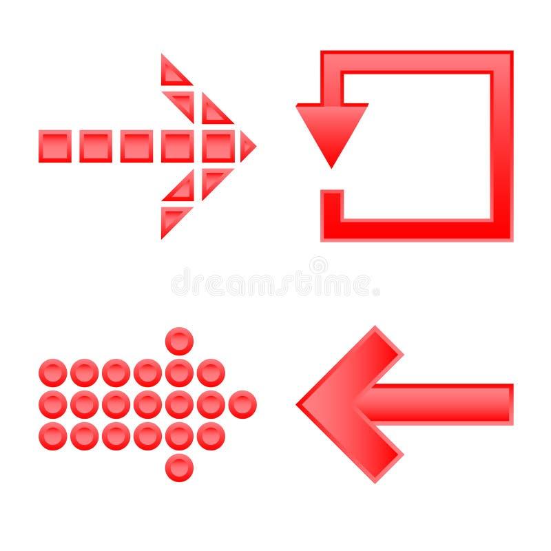 Ilustra??o do vetor do sinal do elemento e da seta Grupo de s?mbolo de a??es do elemento e do sentido para a Web ilustração stock