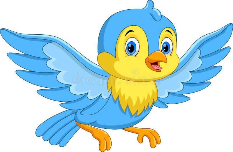 Ilustra??o do voo pequeno do p?ssaro dos desenhos animados bonitos ilustração royalty free