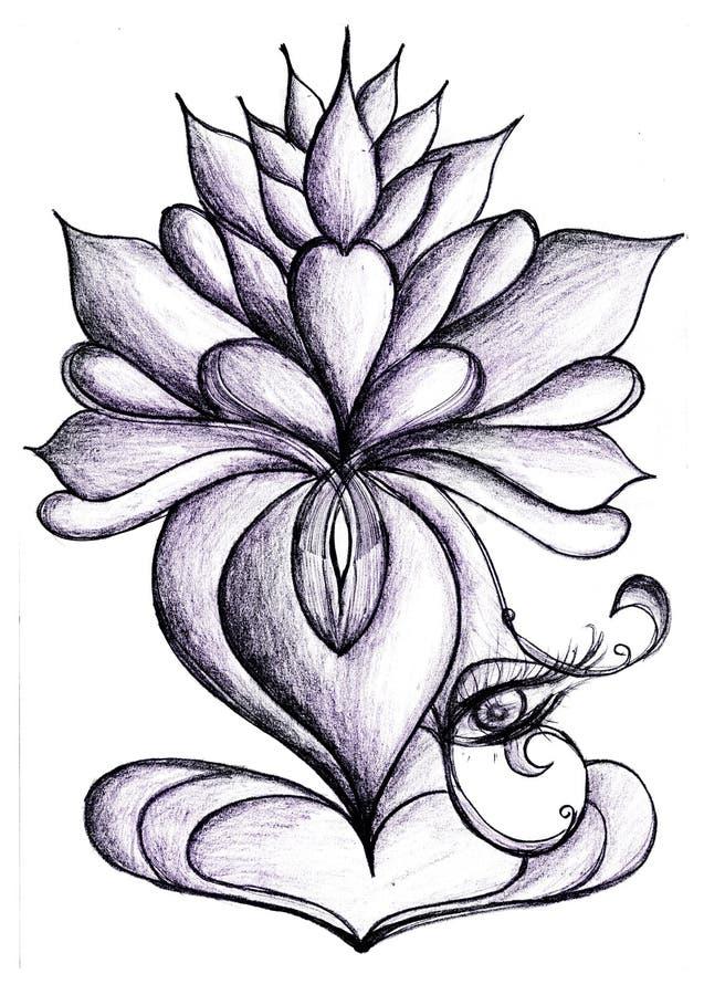 Ilustra??o do zen da flor dos l?tus ilustração royalty free
