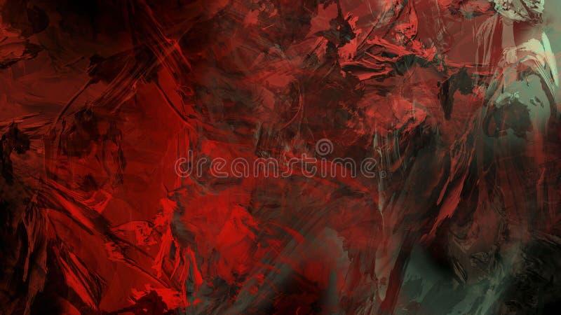 Ilustra??o geol?gico da pintura da montanha da rocha da natureza abstrata da arte moderna foto de stock royalty free