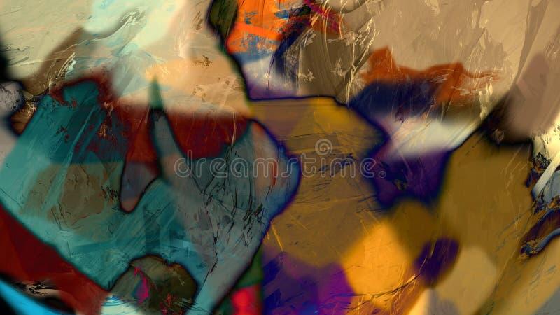Ilustra??o geol?gico da pintura da montanha da rocha da natureza abstrata da arte moderna foto de stock