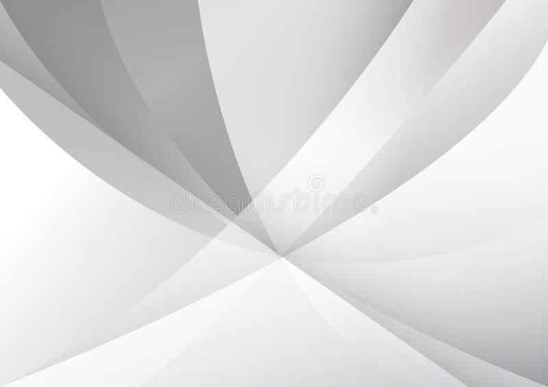 Ilustra??o moderna abstrata do vetor do projeto do fundo da tecnologia branca e cinzenta da cor ilustração do vetor
