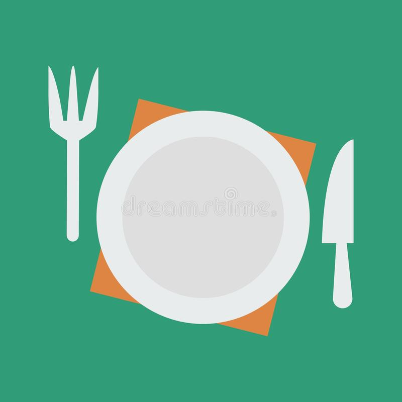 Ilustra??o simples do vetor com capacidade para mudar Acessórios da cozinha do ícone da silhueta ilustração stock