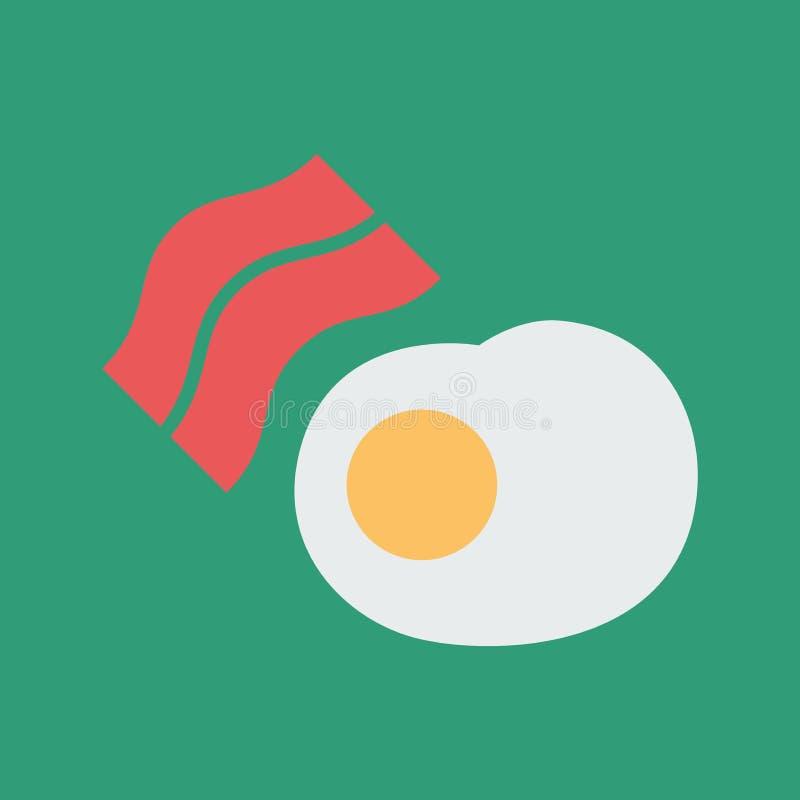 Ilustra??o simples do vetor com capacidade para mudar Café da manhã do ícone da silhueta ilustração do vetor
