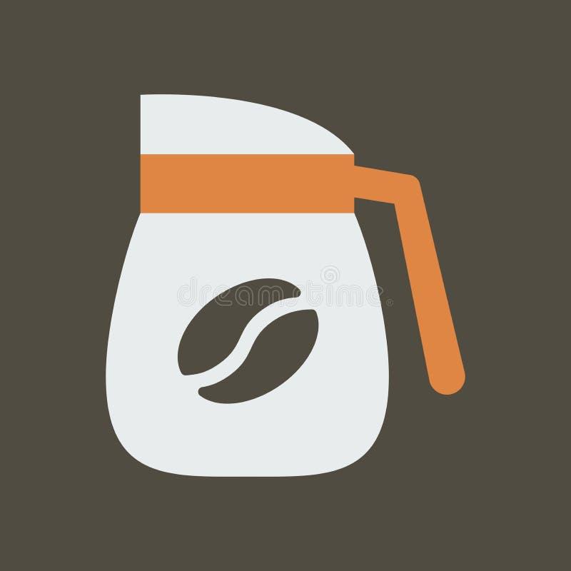 Ilustra??o simples do vetor com capacidade para mudar Café fervido ícone da silhueta ilustração royalty free