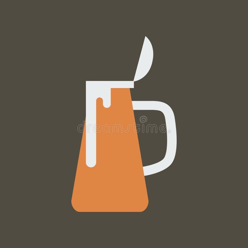 Ilustra??o simples do vetor com capacidade para mudar Caneca de cerveja do ícone da silhueta ilustração do vetor