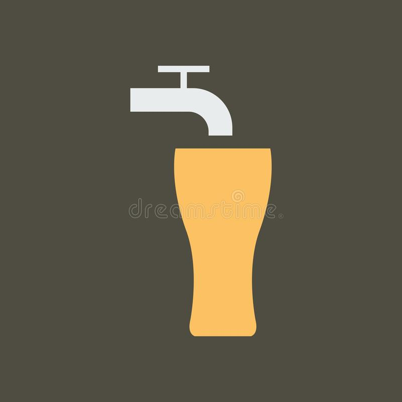 Ilustra??o simples do vetor com capacidade para mudar Cerveja de esboço do ícone da silhueta ilustração royalty free