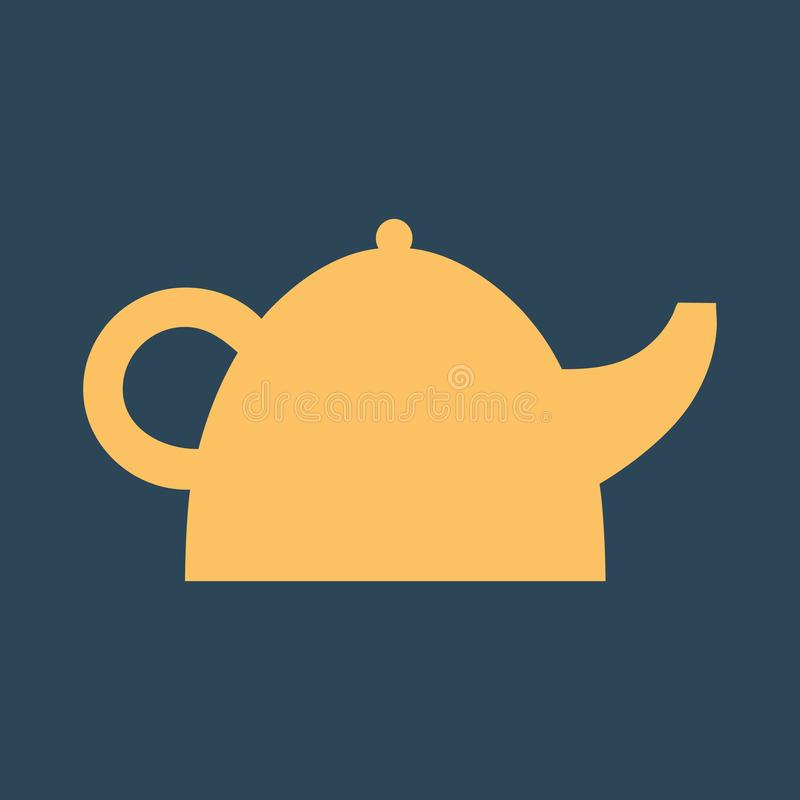 Ilustra??o simples do vetor com capacidade para mudar Chaleira do ícone da silhueta ilustração royalty free