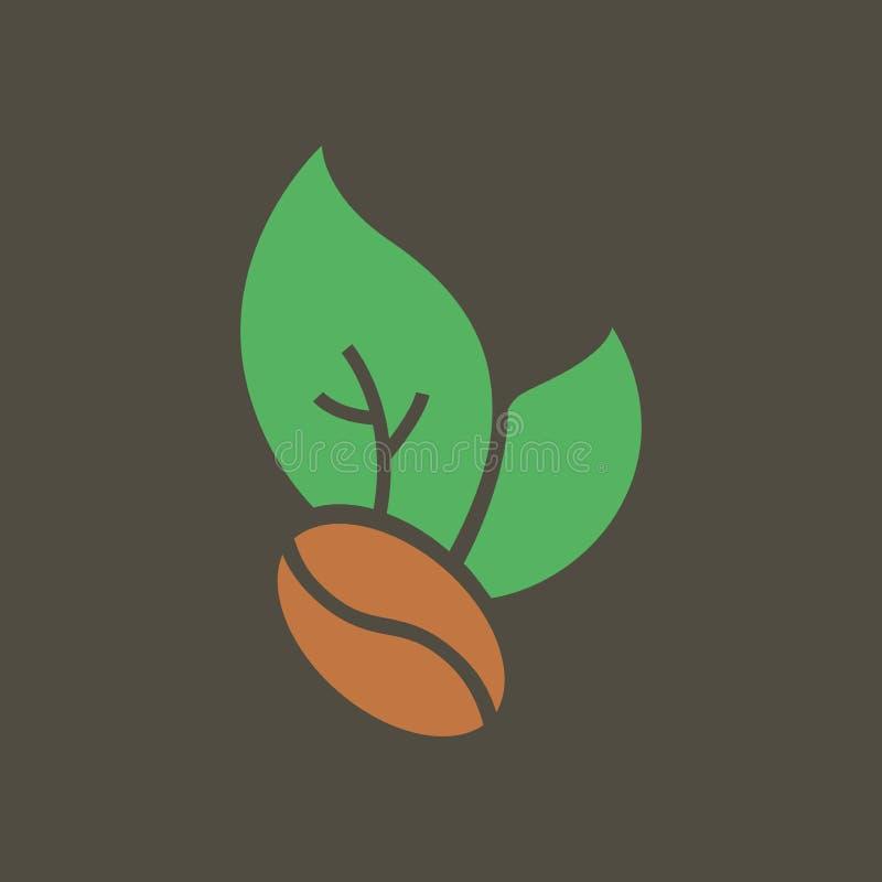 Ilustra??o simples do vetor com capacidade para mudar Feijões de café do ícone da silhueta ilustração do vetor