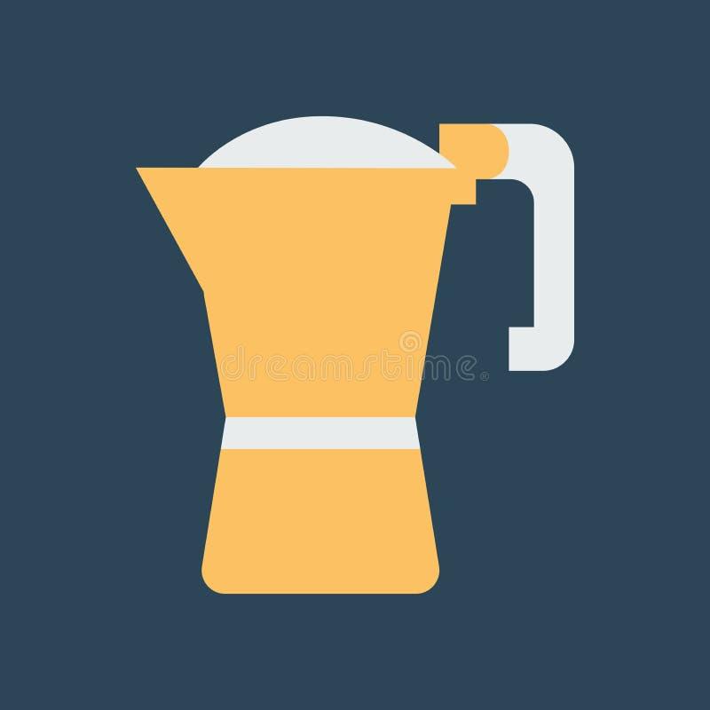Ilustra??o simples do vetor com capacidade para mudar Linha fabricante de café do ícone ilustração stock