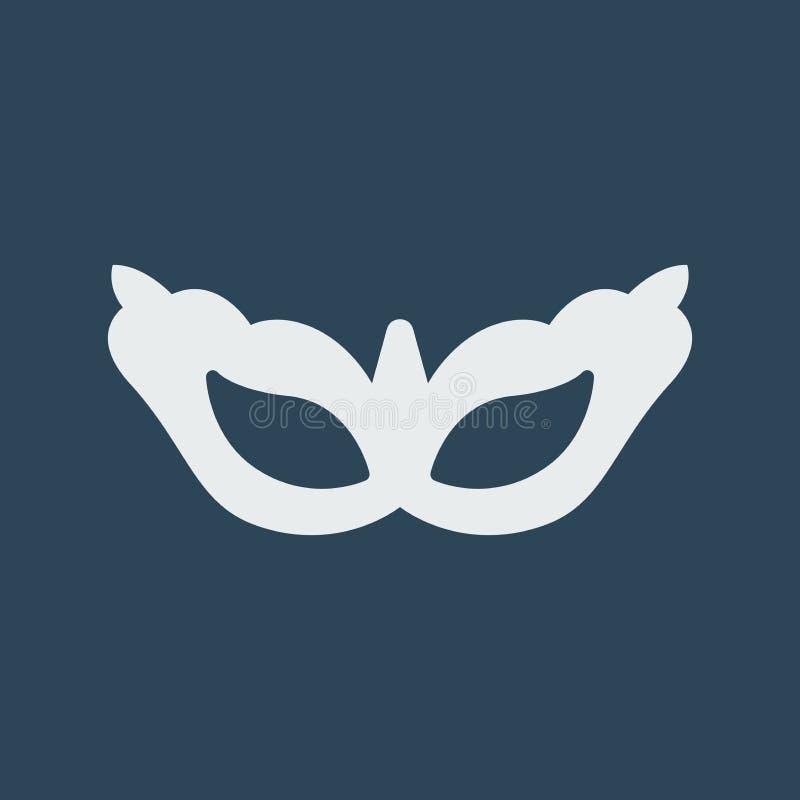 Ilustra??o simples do vetor com capacidade para mudar Máscara erótica do ícone da silhueta ilustração do vetor