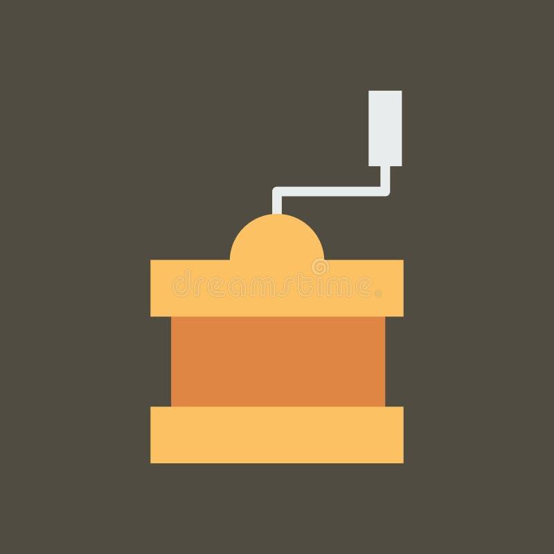 Ilustra??o simples do vetor com capacidade para mudar Moedor de café do ícone da silhueta ilustração royalty free