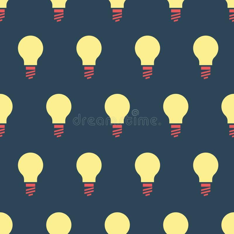 Ilustra??o simples do vetor com capacidade para mudar Teste padr?o com bulbos ilustração royalty free