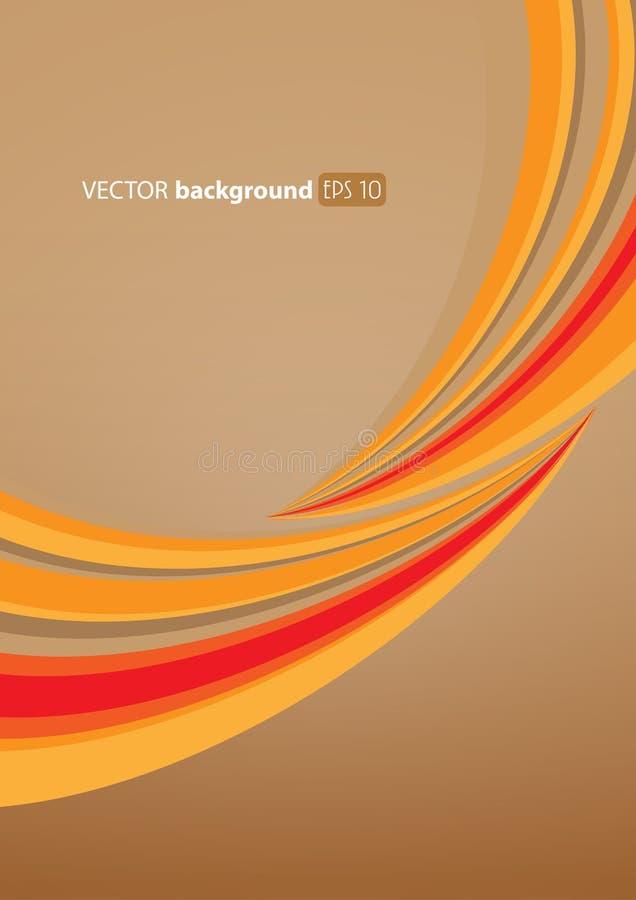 Ilustración abstracta con las líneas. ilustración del vector