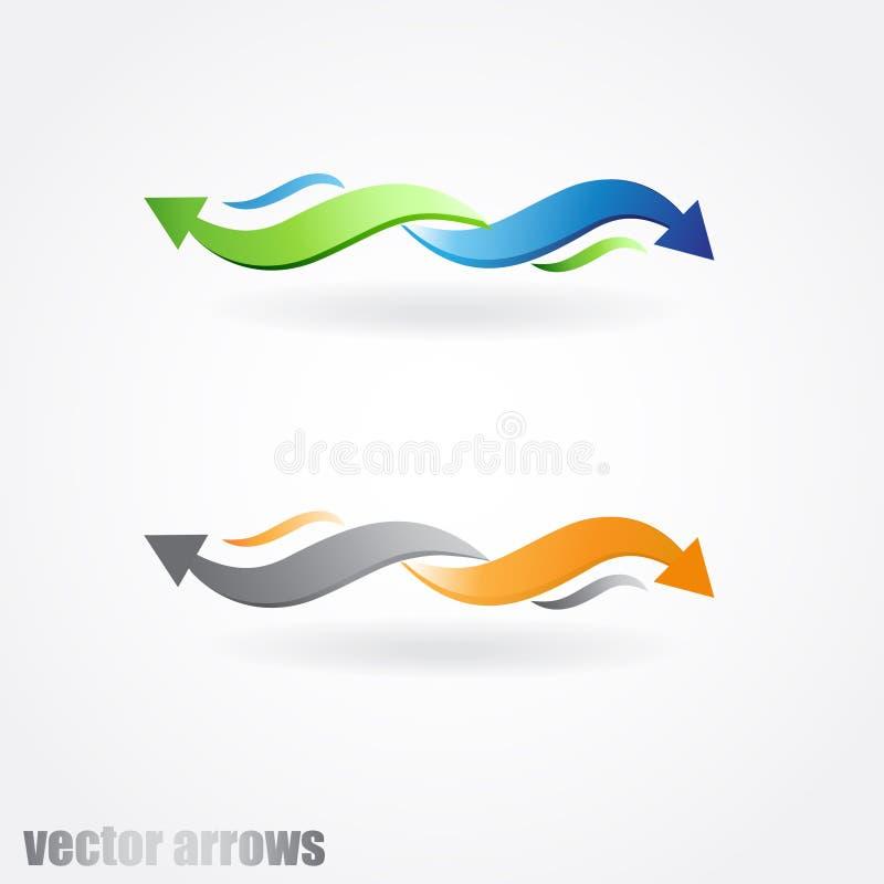 Ilustración abstracta de las flechas en dos colores libre illustration