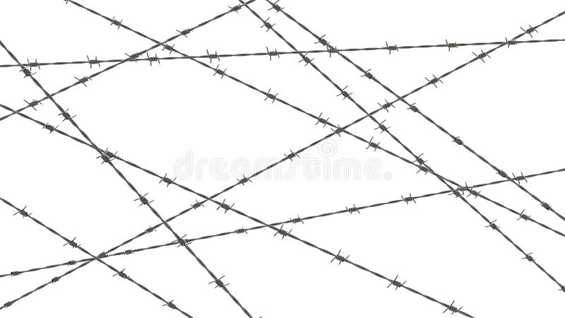 Download Ilustración Abstracta Del Alambre De Púas Stock de ilustración - Ilustración de barbed, cerca: 41913626