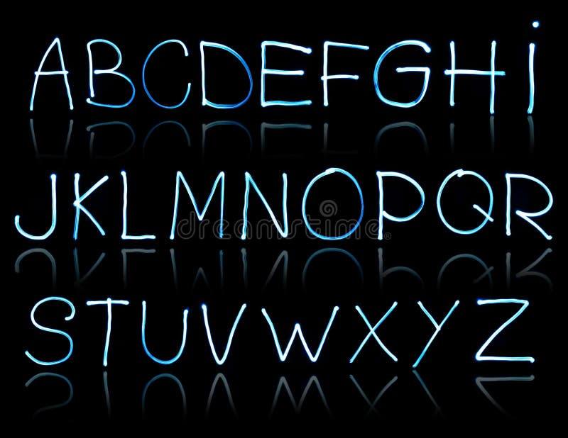 Ilustración abstracta del alfabeto fotografía de archivo