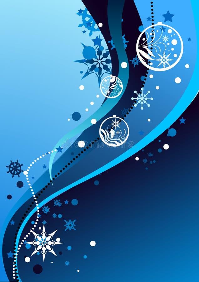 Ilustración abstracta del invierno stock de ilustración
