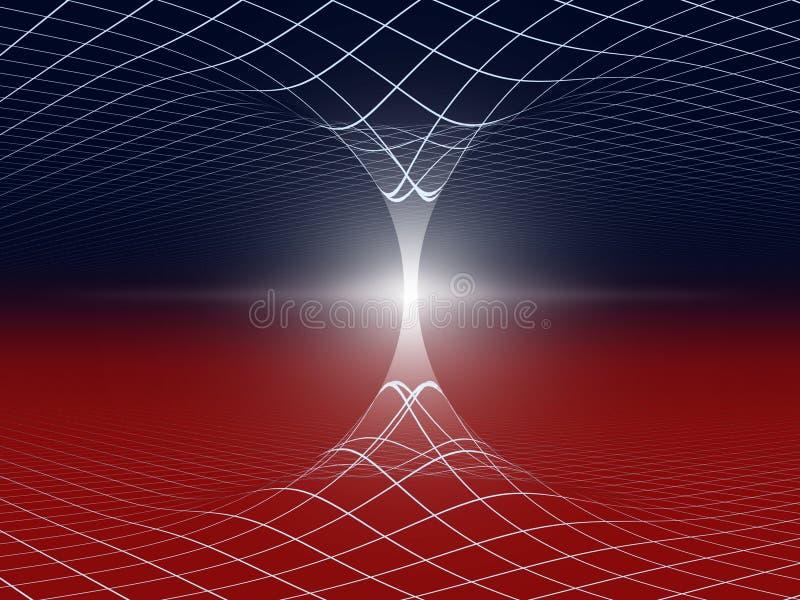 Ilustración abstracta del Wormhole stock de ilustración