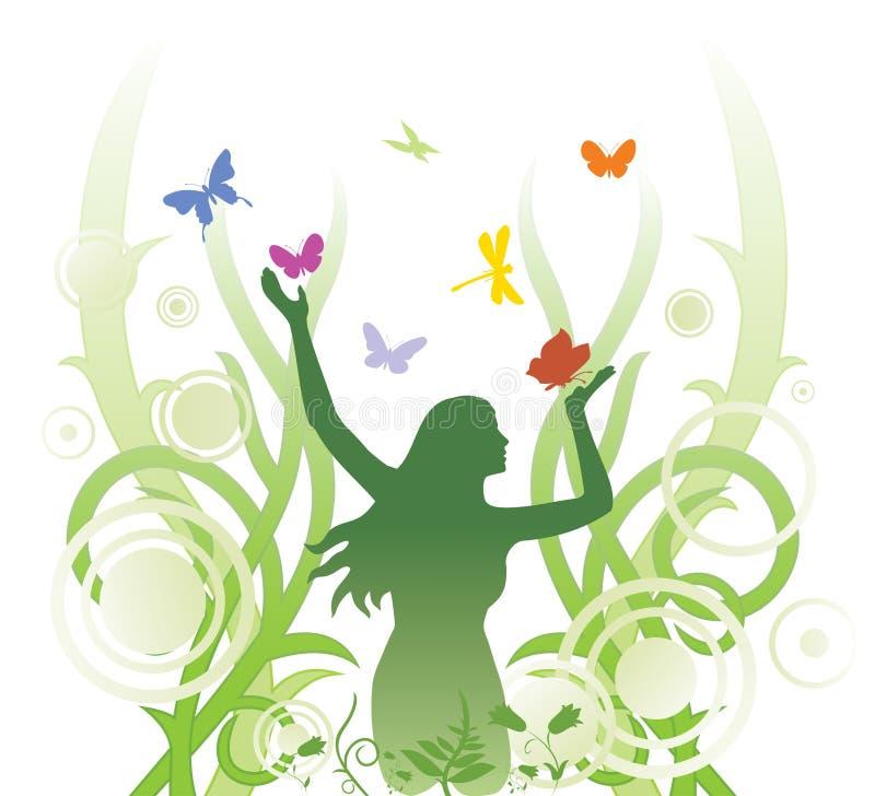 Ilustración abstracta floral libre illustration