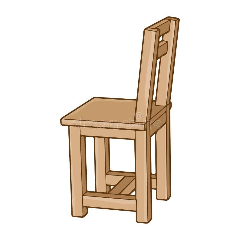 Ilustración aislada en silla de madera ilustración del vector